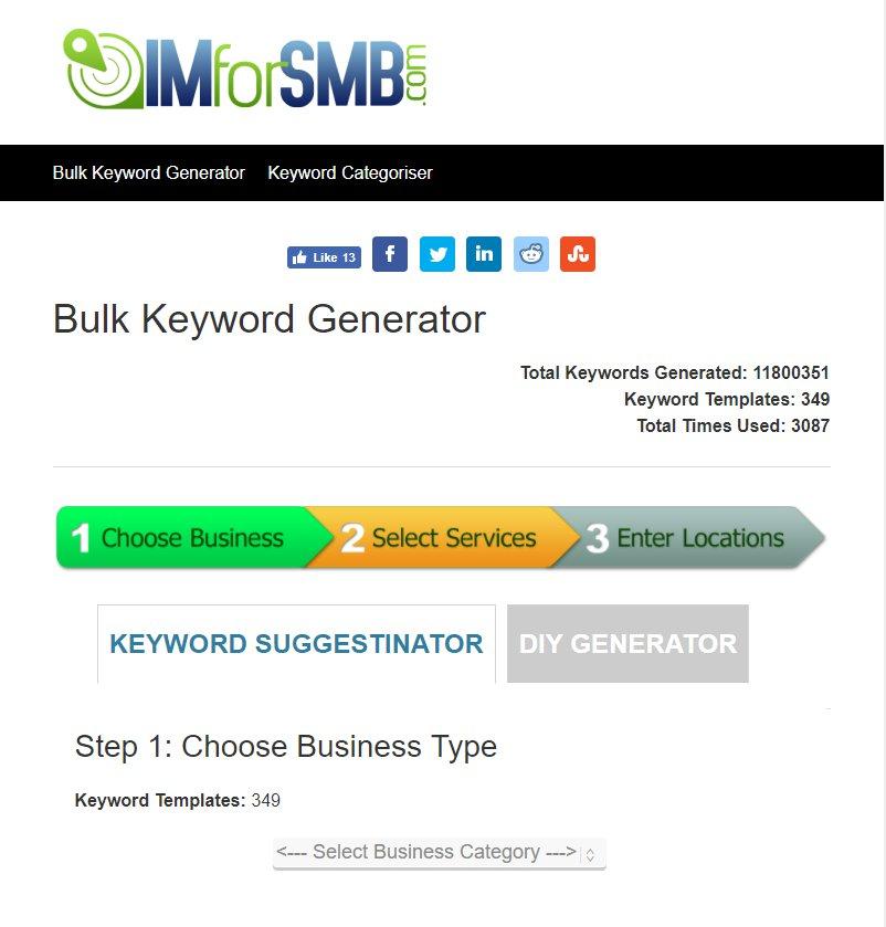 IMforSMB Keyword Generator