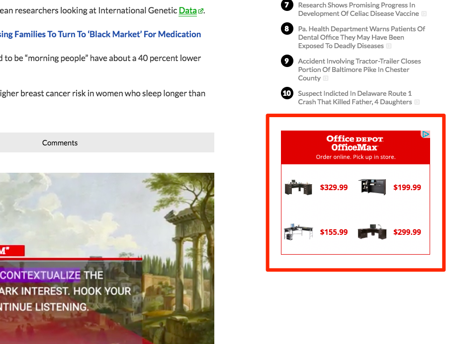 remarketing ad screenshot