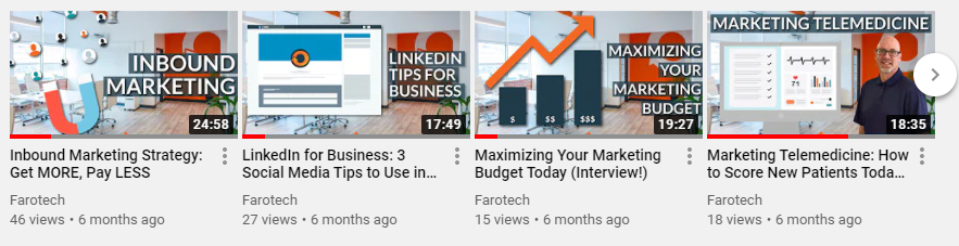 farotech youtube video thumbnails