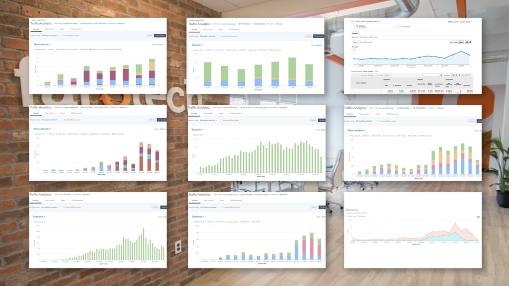 Collage of different screens showing a range of marketing data collection methods.